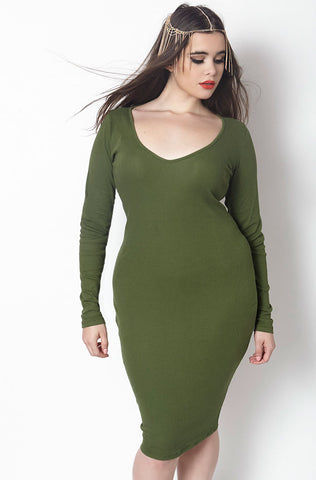 "Rebdolls ""My Way"" Stretch Suede Midi Dress - FINAL SALE CLEARANCE"