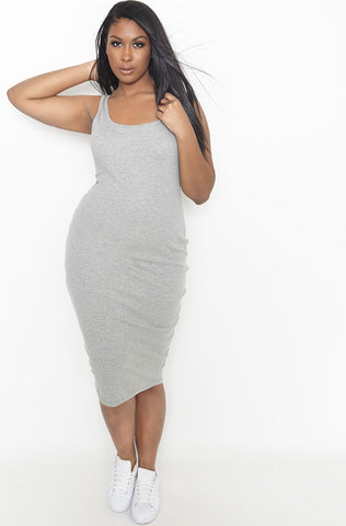 Rebdolls Essential Tank Midi Dress-Blue - FINAL SALE CLEARANCE