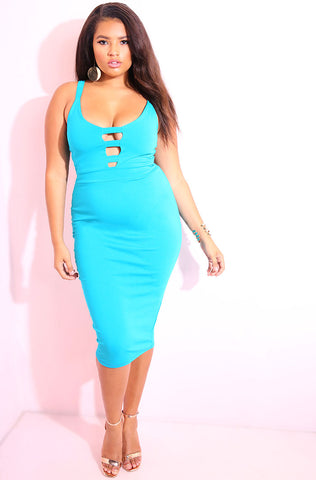 "Rebdolls ""Only If I Could"" Cut-Out Midi Dress FINAL SALE"