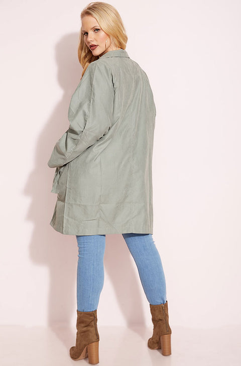 Cascade Double Breasted Trench Coat plus sizes