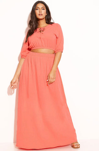 "Rebdolls ""Luau"" Tube Top Pleated Pant Set"