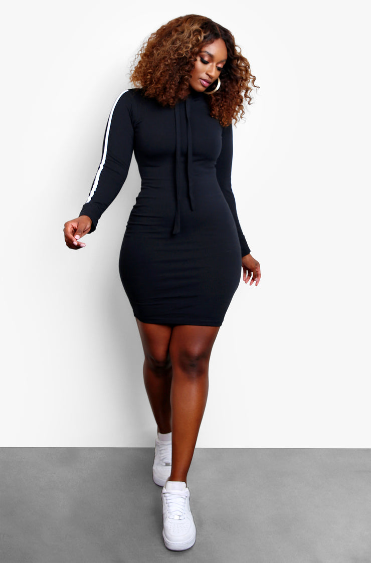 "Rebdolls ""Running Late"" Sporty Hooded Mini Dress"