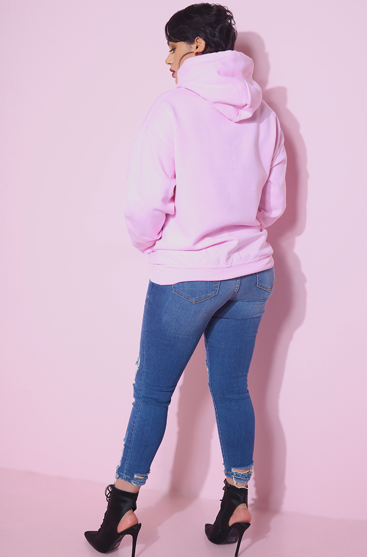 Pink Sassy since birth Hoodie plus sizes