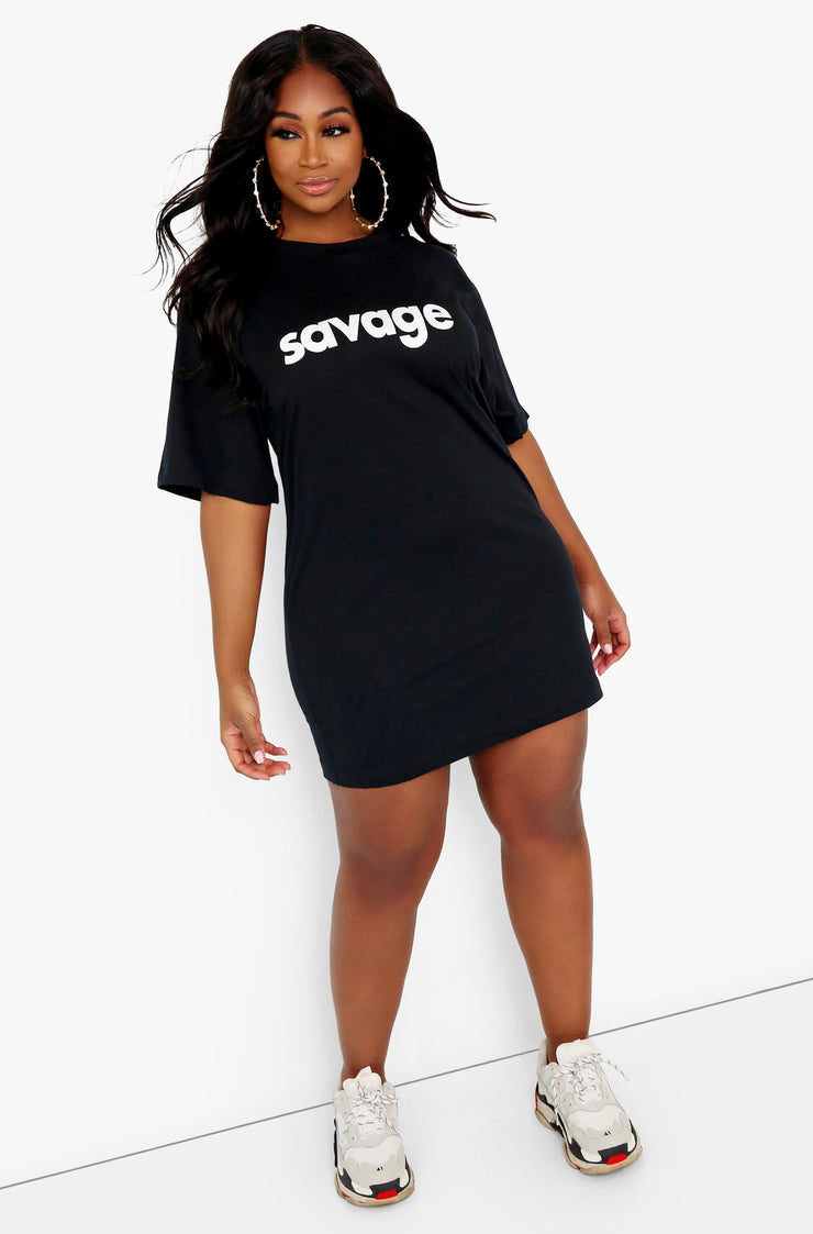 White Oversized Graphic T-Shirt Dress Plus Sizes