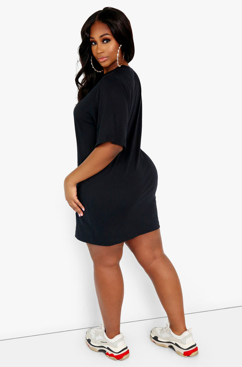 Oversized Graphic T-Shirt Dress Plus Sizes