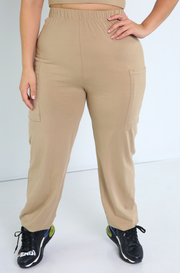 Mocha Jogger Pants Plus Sizes