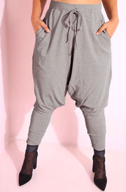 Gray Harem Pants Plus Sizes