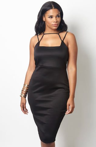 "Rebdolls ""The Beehive"" Light-Weight Crew Neck Midi Dress - Final Sale Clearance"