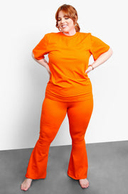 Orange Bell Bottoms Pants Plus Sizes