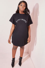 Black T-Shirt Dress plus sizes