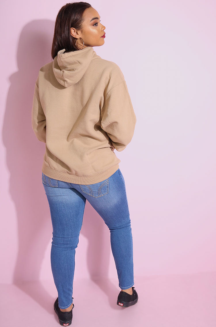 Nude Hoodie plus sizes