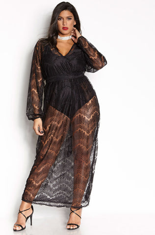 "Rebdolls ""I Can't Wait "" Over The Shoulder Maxi Dress"