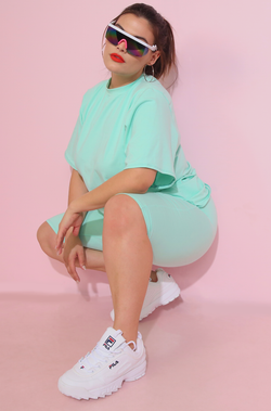 Mint Oversized Top Plus Sizes