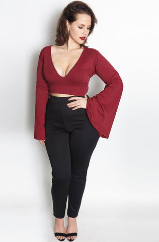"Rebdolls ""Velvet Vixen""  Deep V Neck Jumpsuit - Final Sale Clearance"
