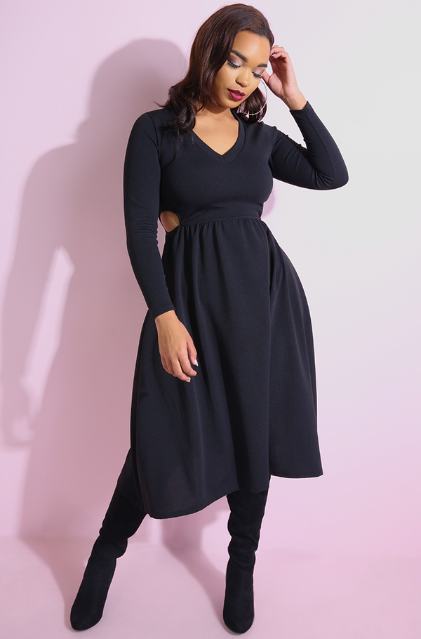 "Rebdolls ""The Best Part"" Cut-Out Skater Midi Dress"