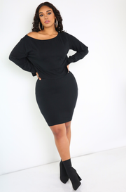 Black Bodycon Mini Skirt Plus Sizes