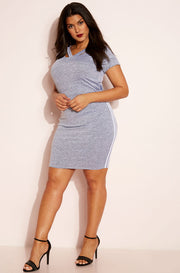 Gray Mini Skirt plus sizes