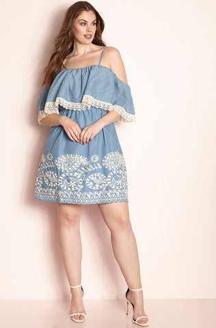 "Rebdolls ""Limited Time"" Ruffled Sleeve Midi Dress"
