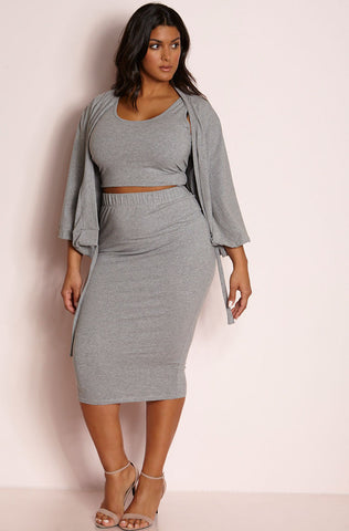 "Rebdolls ""Positive Vibes"" Over The Shoulder Two Piece Set"