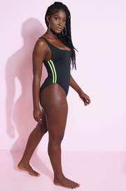 Black Sporty Swimsuit Plus Sizes