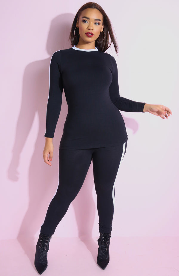 "Rebdolls ""Throwback""  High Waist Leggings"