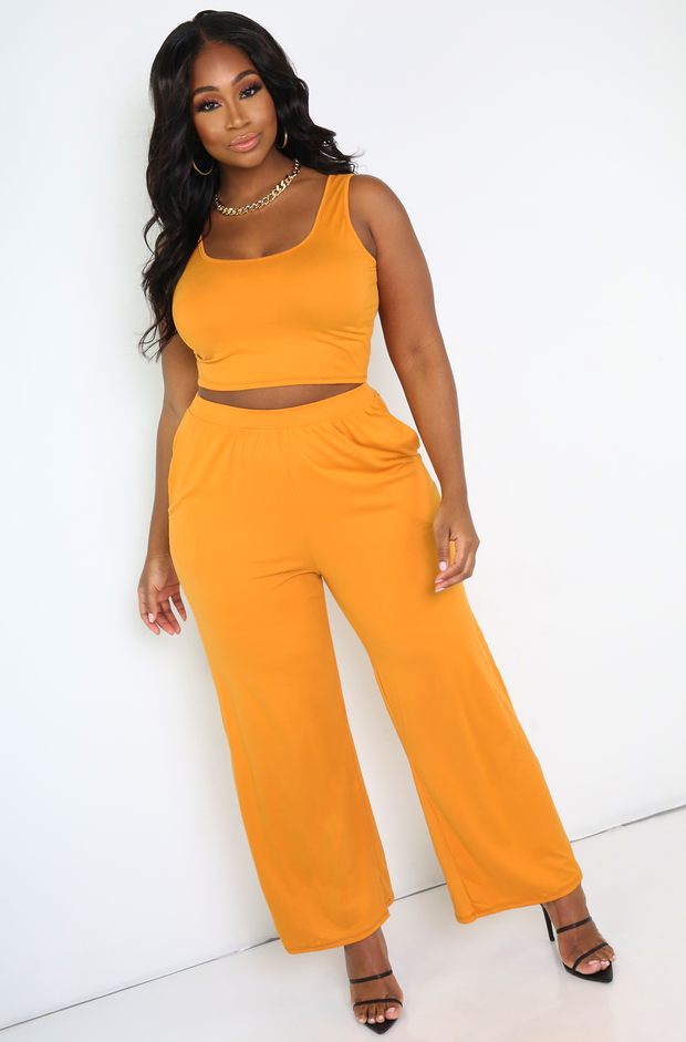Orange Tank Crop Top Plus Sizes