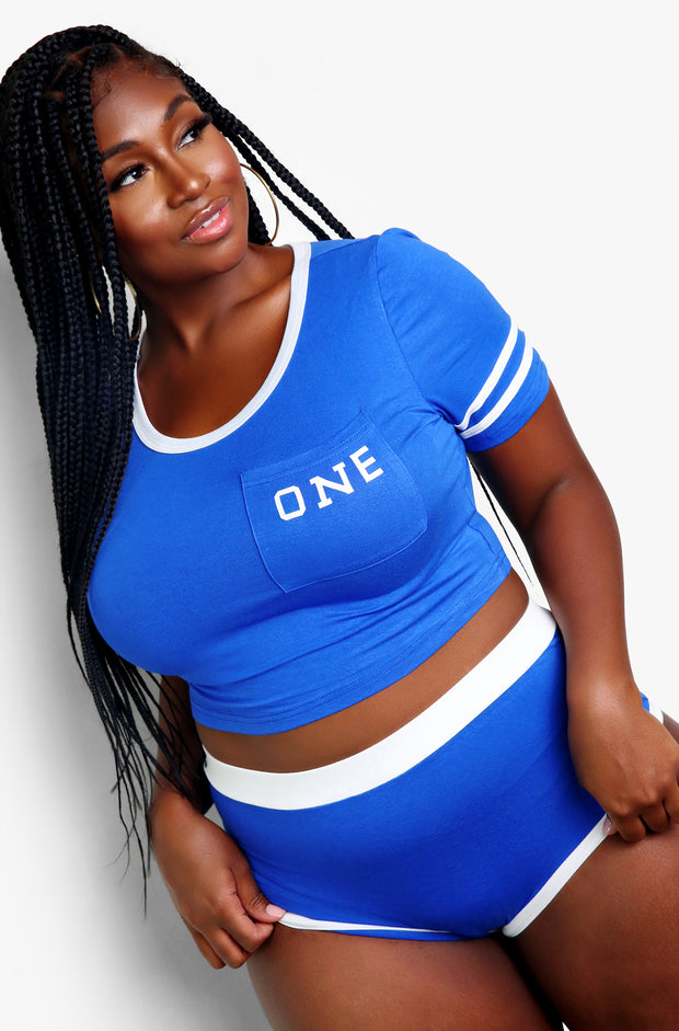 Royal Blue Matching Intimates Set Plus Sizes