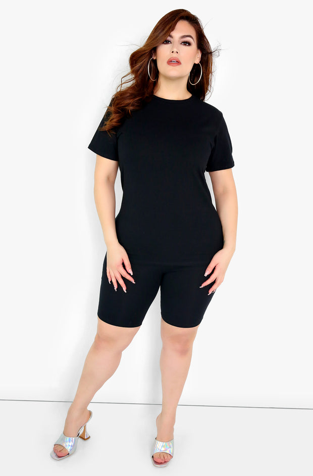 Black Bermuda Shorts Plus Size