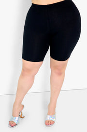 Black Bermuda Leggings Plus Sizes