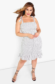 White Smocked Mini Dress Plus Sizes