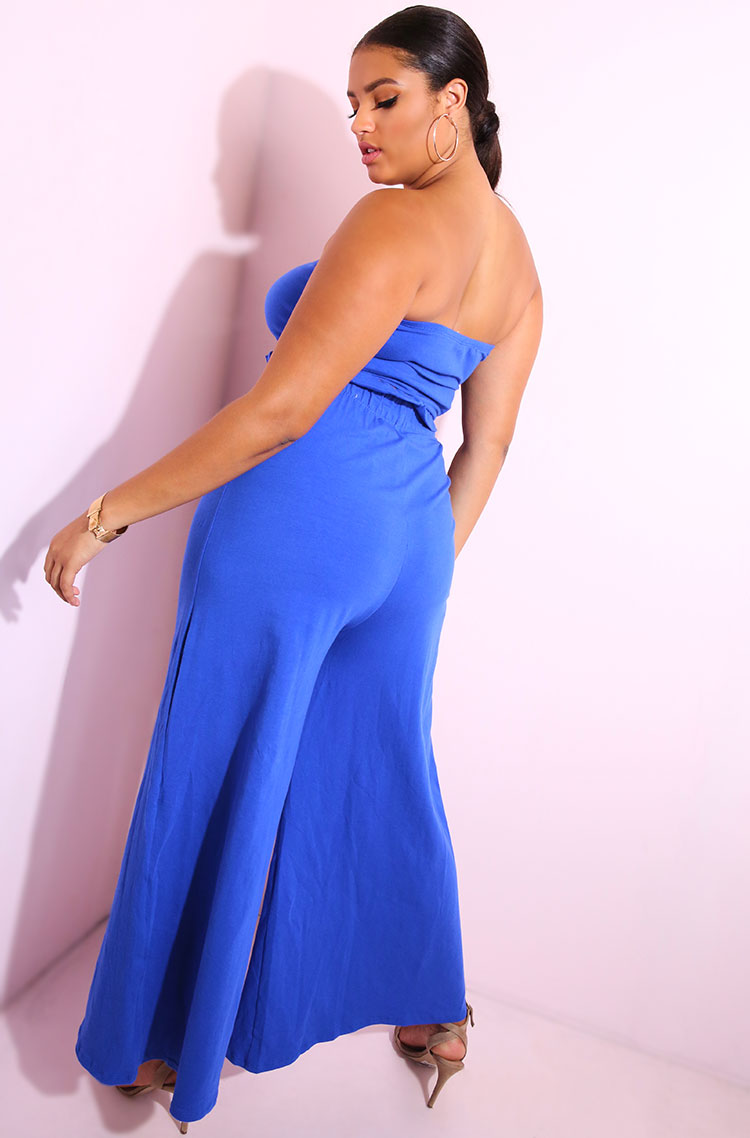 Royal Blue Tube Top plus sizes