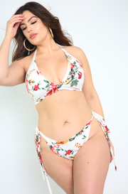 White Tie Bikini Swimsuit Bottom Plus Sizes