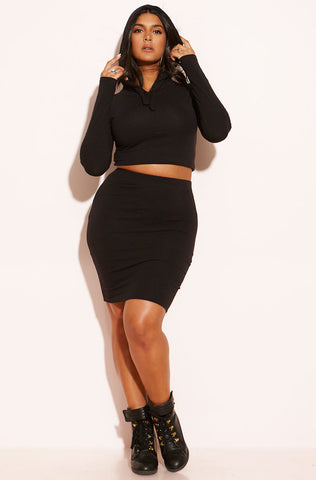 "Rebdolls ""Charged Up"" Ribbed Cardigan Tank Dress Set"