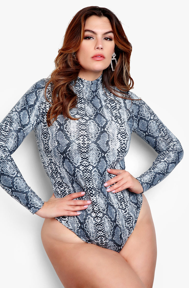 "Rebdolls ""Want It All"" Snake Print Bodysuit"