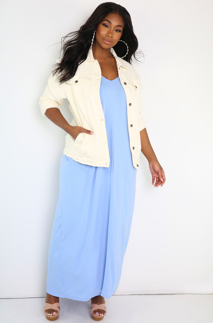 Ivory Denim Jacket Plus Sizes