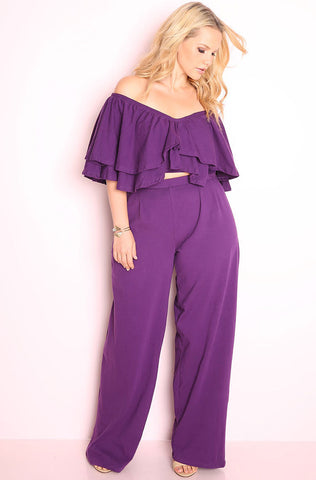 "Rebdolls ""Backlash"" Halter & Pleated Pant Set"
