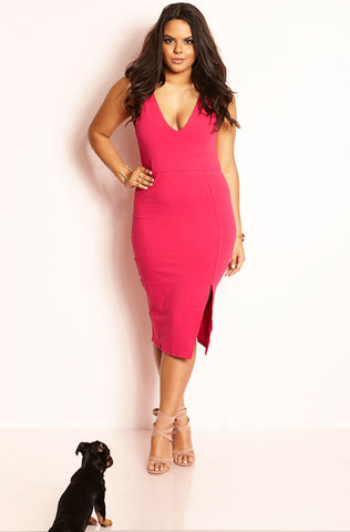 "Rebdolls ""Famous"" Sweetheart Ponte Midi Skater Dress"