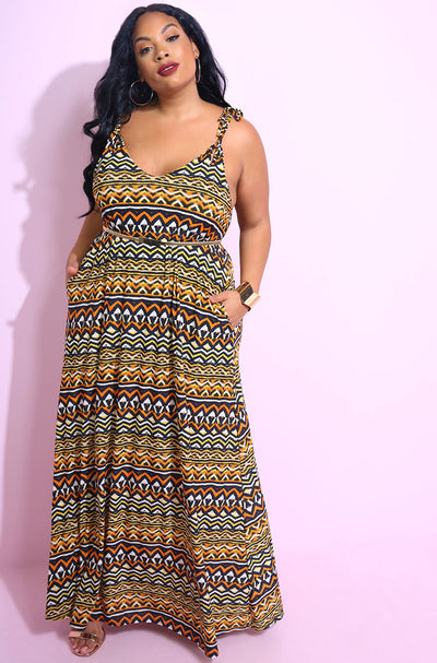Orange Oversized Skater Maxi Dress plus sizes