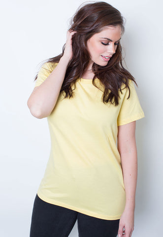 Rebdolls Essential 3/4 Sleeve Crew Neck Mini Dress - Mustard - FINAL SALE