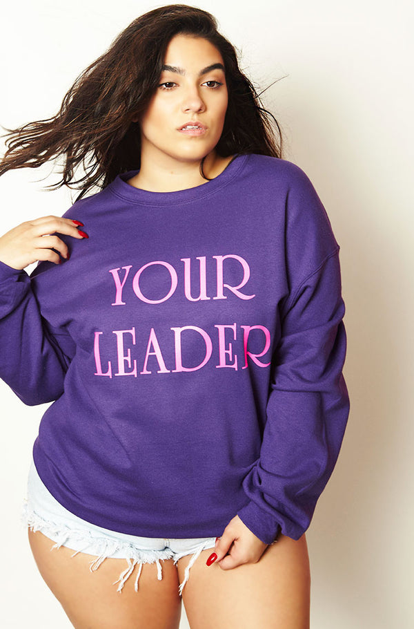 Purple Oversized Sweatshirt plus sizes