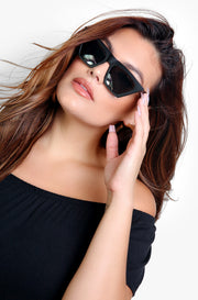 Matte Black Tinted Sunglasses