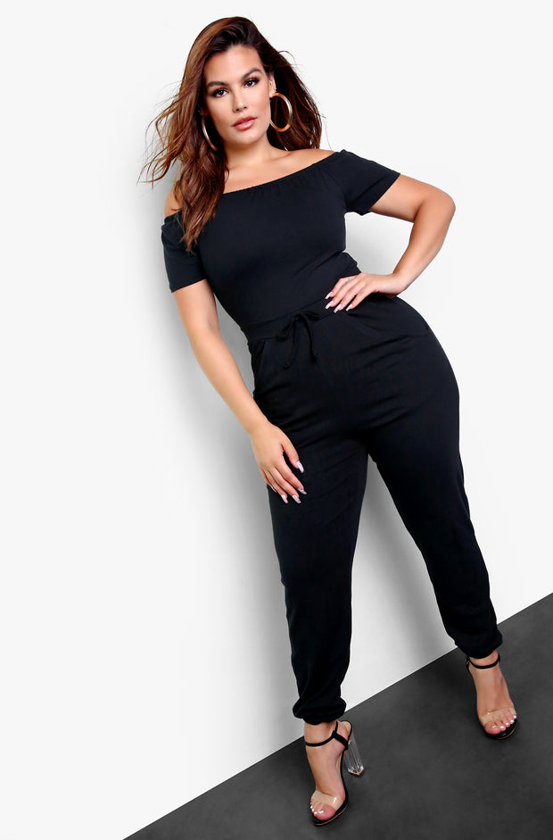 "Rebdolls ""On It"" Over The Shoulder Jogger Jumpsuit"