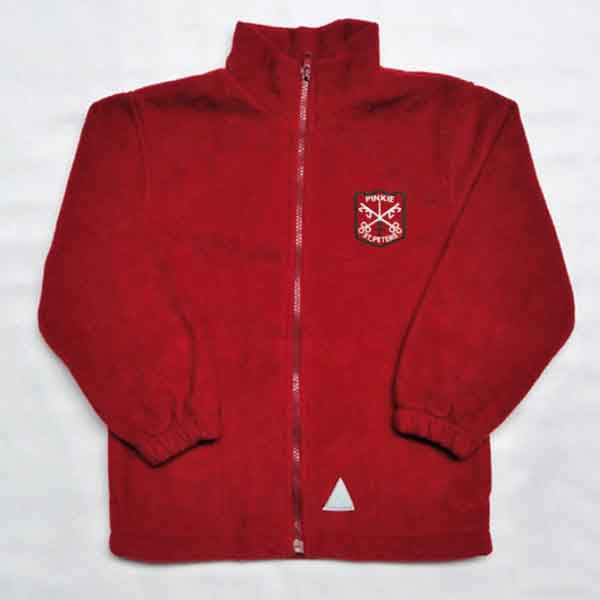 Pinkie St Peters Primary School - Red Fleece Jacket