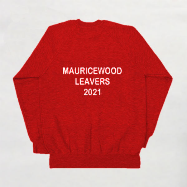 Mauricewood Primary School - Primary 7s Red Sweatshirt