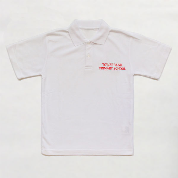 Towerbank Primary School - White Polo Shirt