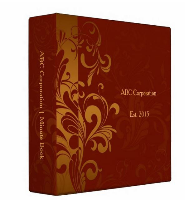 Red and Gold Scroll Work Modern Company Kit