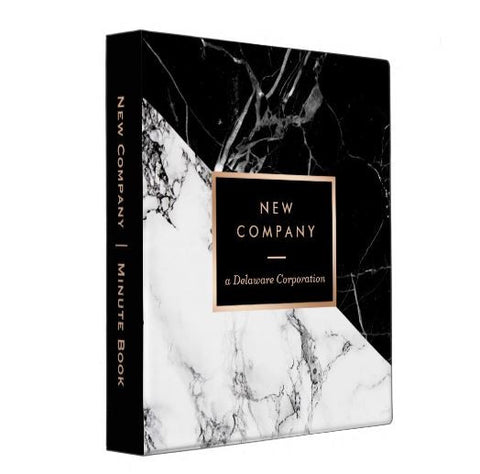 Marble Black White Two-Tone Corporate Kit