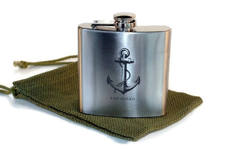 SAN DIEGO Anchor Flask