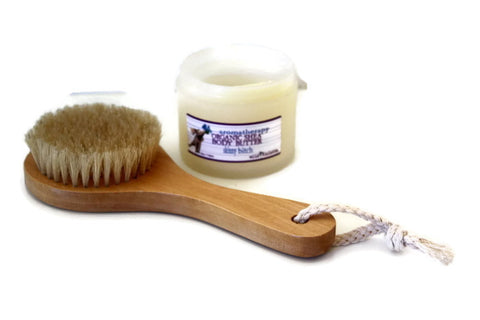 Natural Dry Body Brush for Exfoliating & Cellulite Aid (Minimum 6) - Wild Violetta  - 5