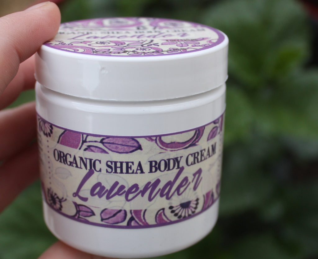 Lavender Body Butter Cream // Organic Shea Butter for Deep Healing // 4 oz - Wild Violetta  - 1
